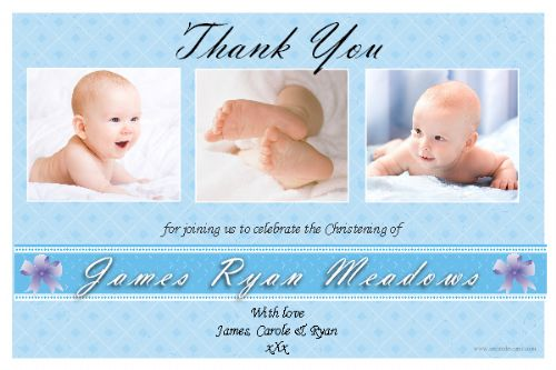 10 Personalised Thankyou PHOTO Cards N166